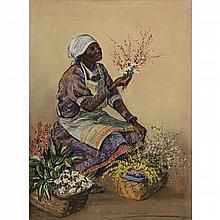 ELIZABETH O''NEILL VERNER, (AMERICAN 1883-1979), FLOWER SELLER