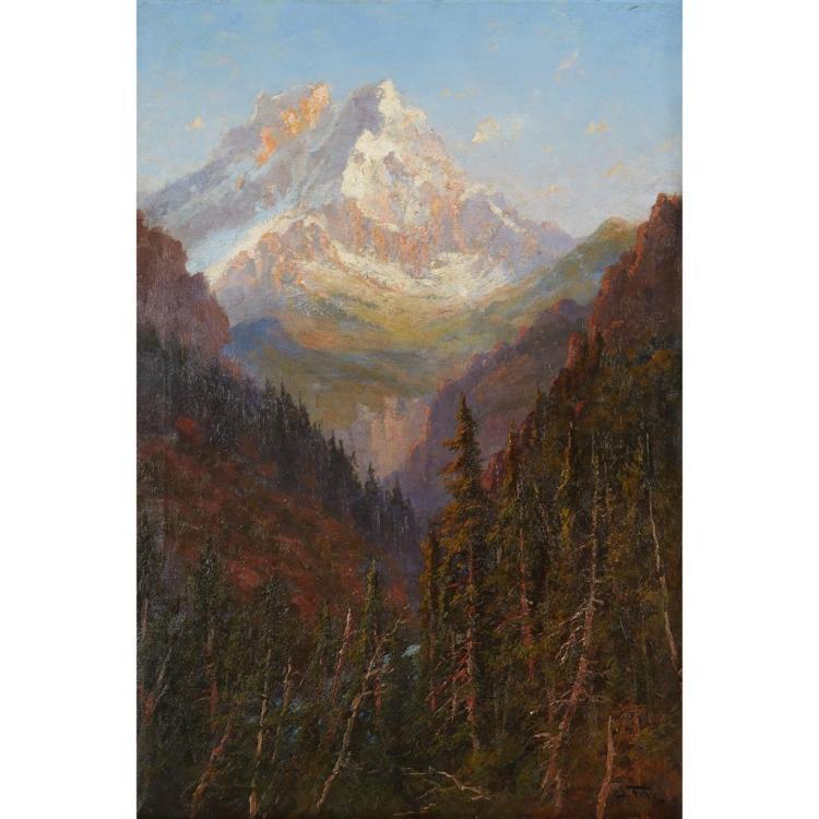 JOHN FERY, (AMERICAN/AUSTRIAN 1859-1934), MOUNT TIMPANOGOS, NORTH FACE