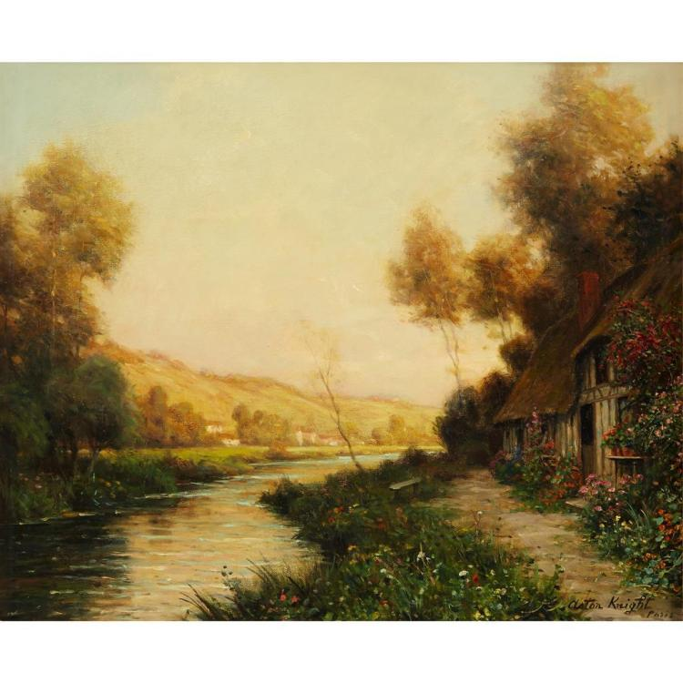 LOUIS ASTON KNIGHT, (AMERICAN 1873-1948), ON THE RIVER
