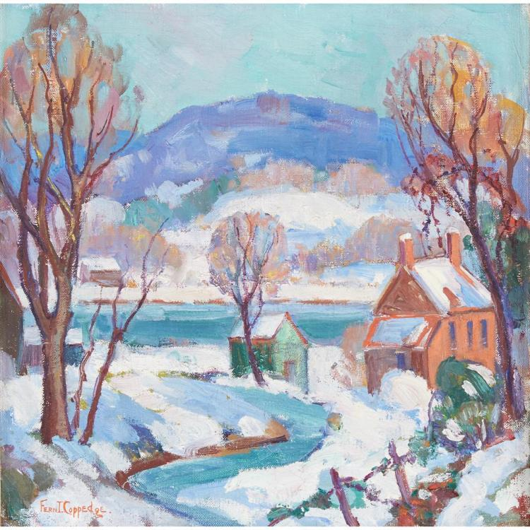 FERN ISABEL COPPEDGE, (AMERICAN 1883-1951), WINTER LANDSCAPE