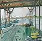 LESLIE HENDERSON, (AMERICAN 1895-1988), DOCK AT BIVALVE, NEW JERSEY, Leslie Henderson, Click for value