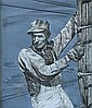 HERSCHEL LEVIT, (AMERICAN 1912-1986), RAILROAD WORKER, MURAL DESIGN, Herschel Levit, Click for value