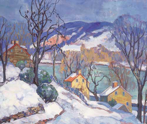 FERN ISABEL COPPEDGE (American 1888-1951) BY THE DELAWARE, WINTER signed 'Fern I. Coppedge' bottom right, oil on canvas 20 x 24 in. (50.8 x 61 cm). Provenance: By family descent. Estimate