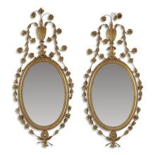 A pair of Edwardian gesso and giltwood mirrors, early 20th century