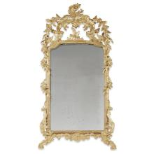 A George III style carved giltwood pier mirror, 19th century