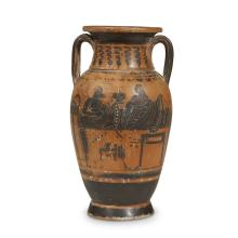 A Greek Attic style black figure amphora after the antique, likely 18th/19th century