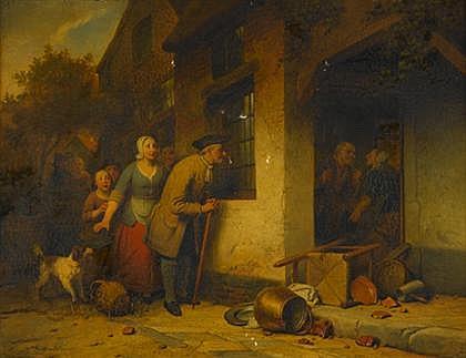 FERDINAND DE BRAEKELEER (BELGIAN 1792-1883)