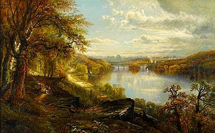 EDMUND DARCH LEWIS (AMERICAN 1835-1910) VIEW