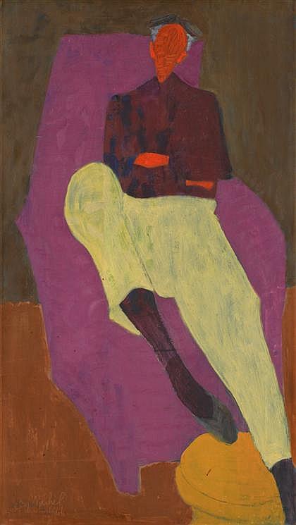 SALLY MICHEL AVERY, (AMERICAN 1902-2003), MILTON SEATED