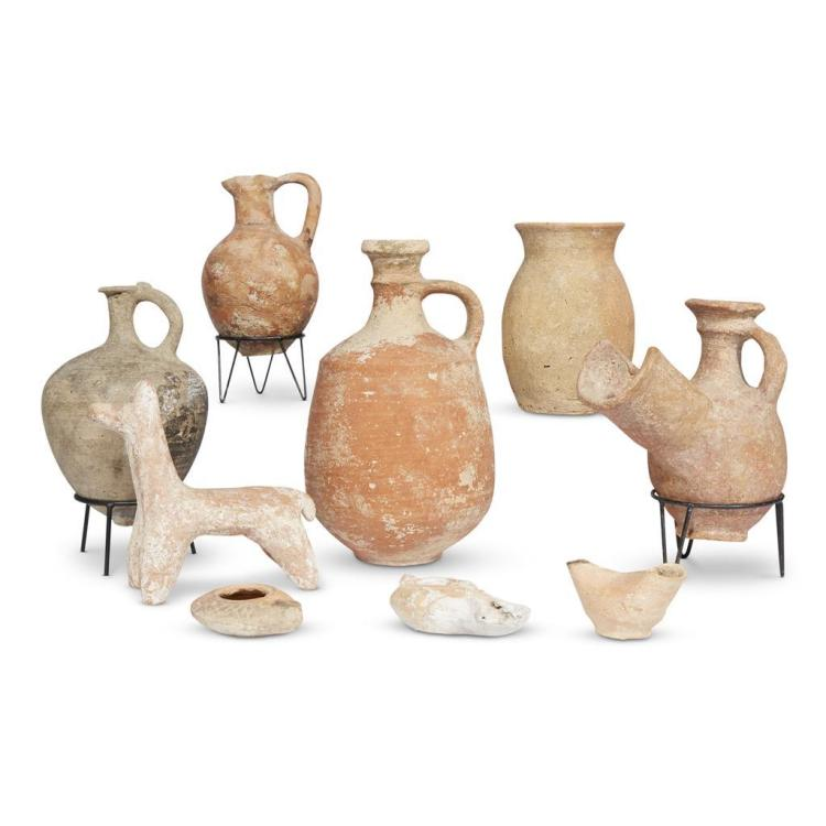 A collection of Helladic, Mycenaean, Greek, and Roman terracotta pottery from Jerusalem, circa late 2nd millennium B.C.E. through 4t...