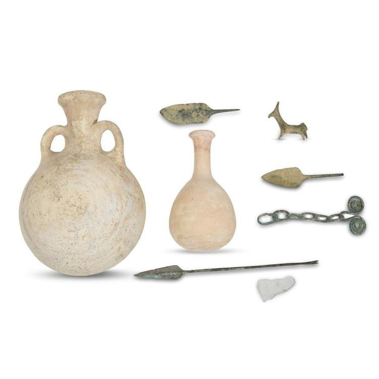A collection of Persian Bronze Age artifacts, circa late 2nd or early 1st millennium B.C.E.