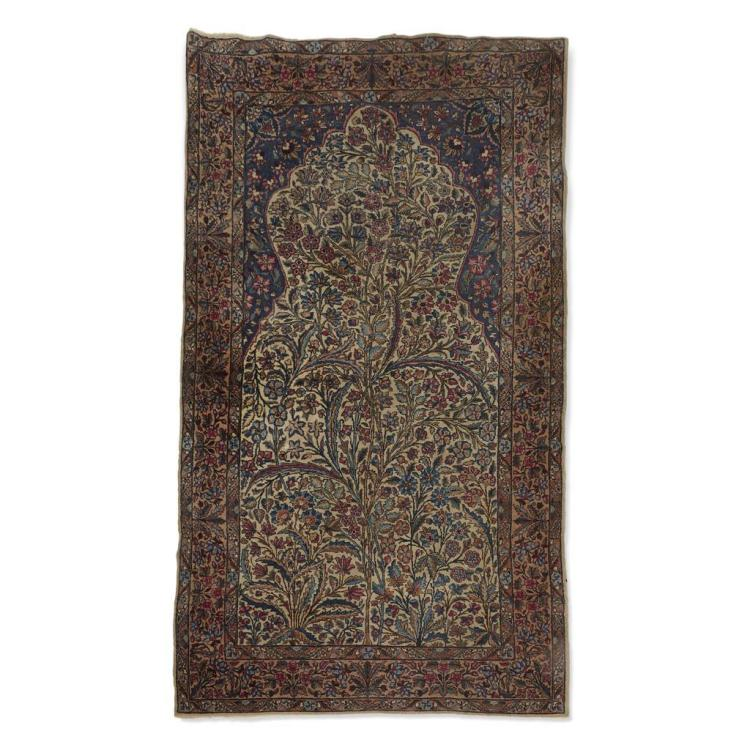 A Kerman prayer rug, Southeast Persia, mid 20th century
