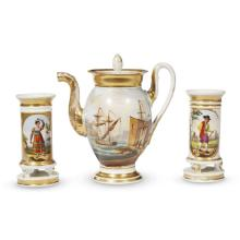 A group of Restauration Paris porcelain table wares, first quarter 19th century