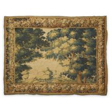 An Aubusson verdure tapestry fragment, early 18th century
