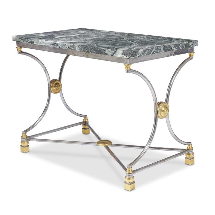 A Consulat steel and brass table à écrire, circa 1800