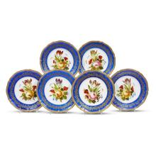 A set of six Royal Vienna style hand-painted porcelain plates, late 19th/early 20th century