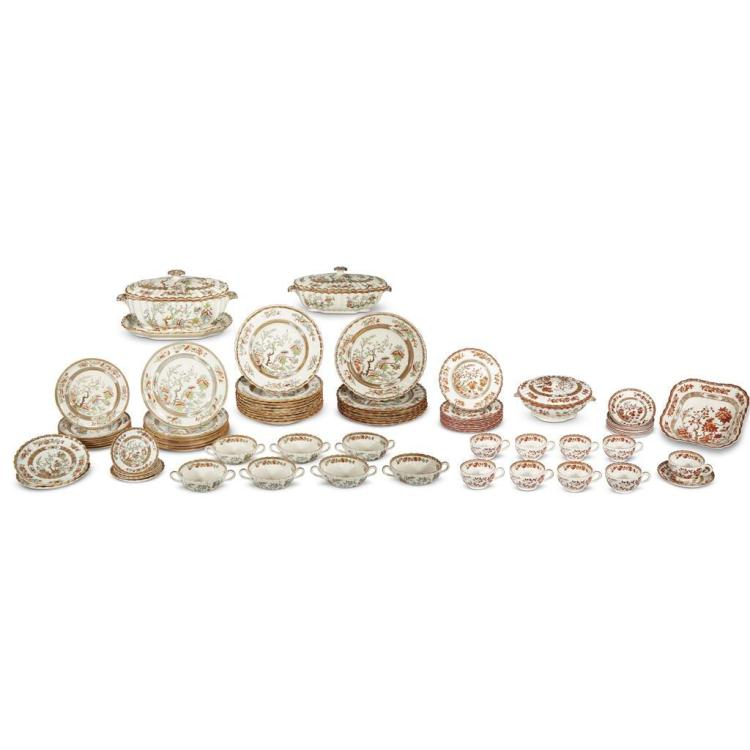 An assembled collection of Spode and Copeland 'Indian Tree' dinnerware, 19th and 20th centuries