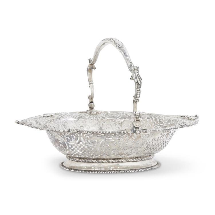 A George III sterling silver swing-handled basket, John Parker & Edward Wakelin, London, 1763