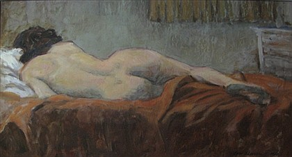 CARL D. LAUGHLIN JR., (AMERICAN 20TH CENTURY), RECLINING NUDE