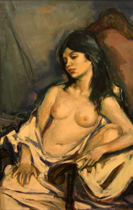 JAN DE RUTH, (AMERICAN B. 1922), YELLOW KIMONO
