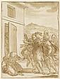 ATTRIBUTED TO CARLO MARATTA, (ITALIAN 1625-1713), SAINT KNEELING BEFORE ANGELS