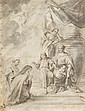 ITALIAN SCHOOL, (17TH - 18TH CENTURY), HOLY FAMILY WITH SAINTS