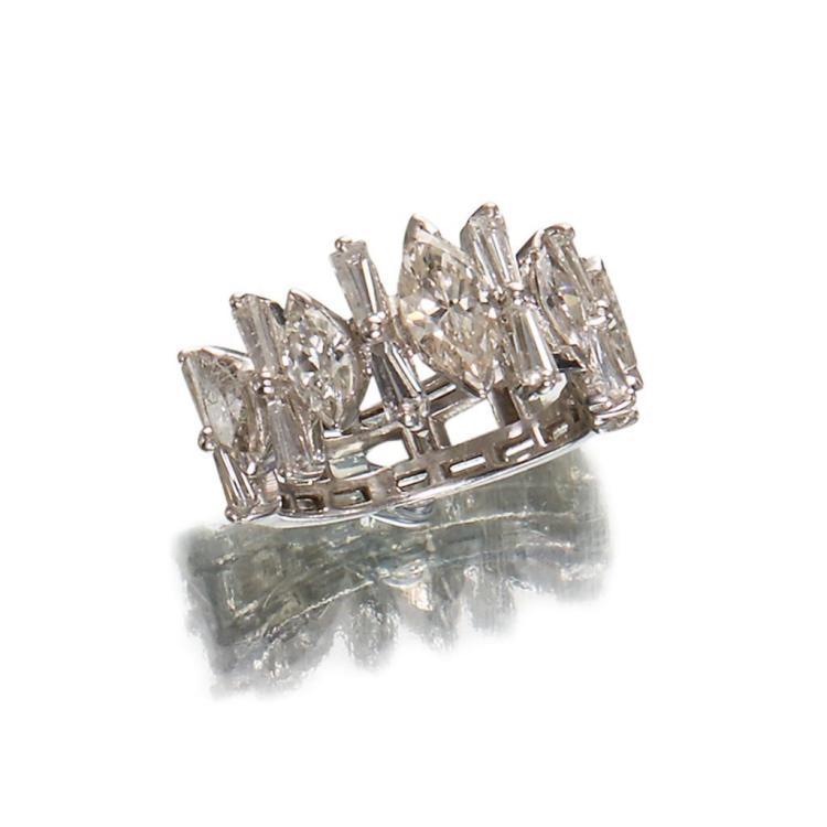 A diamond and platinum band,