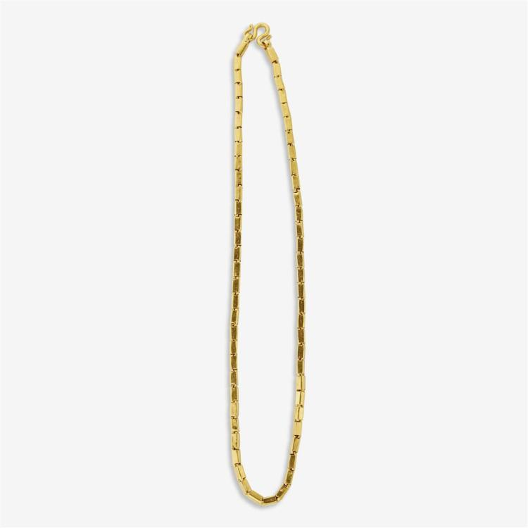 A high karat gold necklace,
