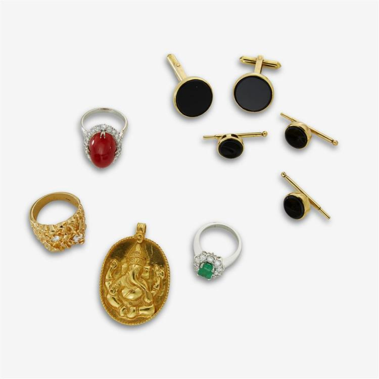 A collection of jewelry,