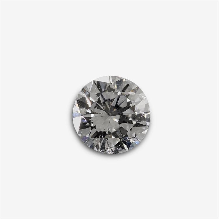 An unmounted round brilliant-cut diamond,