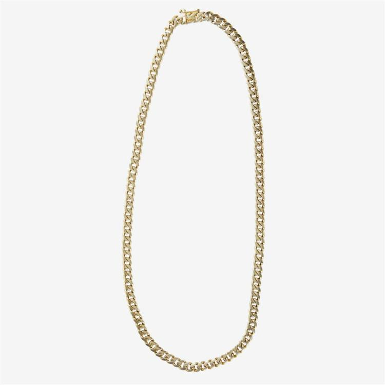 An eighteen karat gold necklace,