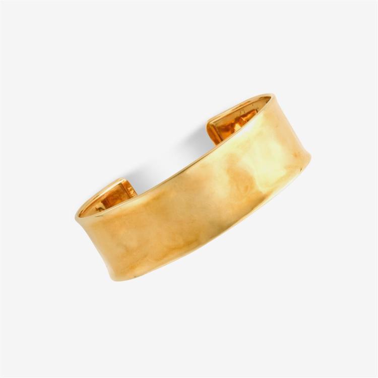 An eighteen karat gold cuff, Herco, Italy