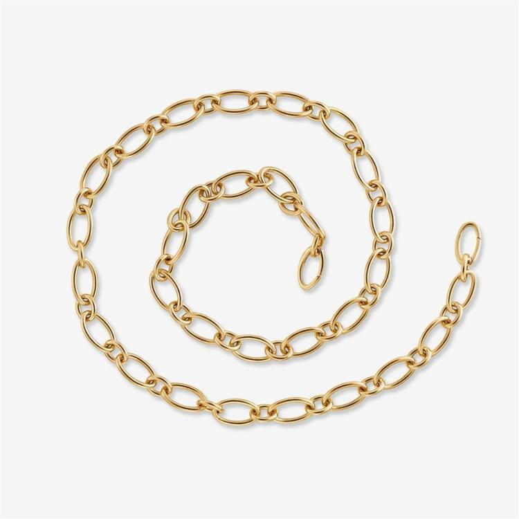 An eighteen karat gold necklace, Tiffany & Co., Italy