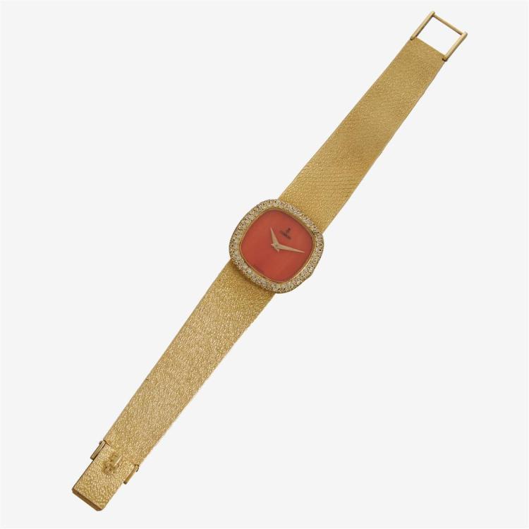 An eighteen karat gold and enamel bracelet watch, Corum,