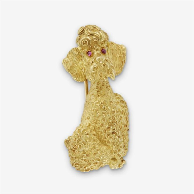 A high karat gold brooch, Tiffany and Co.,