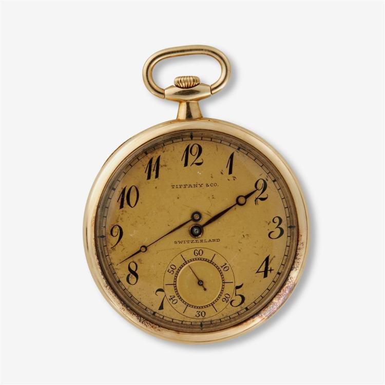 An eighteen karat gold pocket watch, Tiffany & Co., swiss