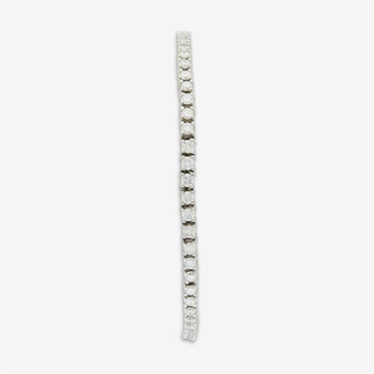 A diamond and platinum bracelet,