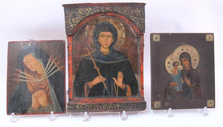 Two Greek icons of the Virgin, 18th/19th century