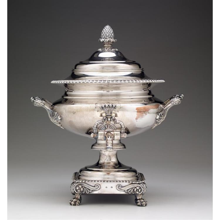 A Sheffield silver-plated hot water urn, Matthew Boulton, early 19th century