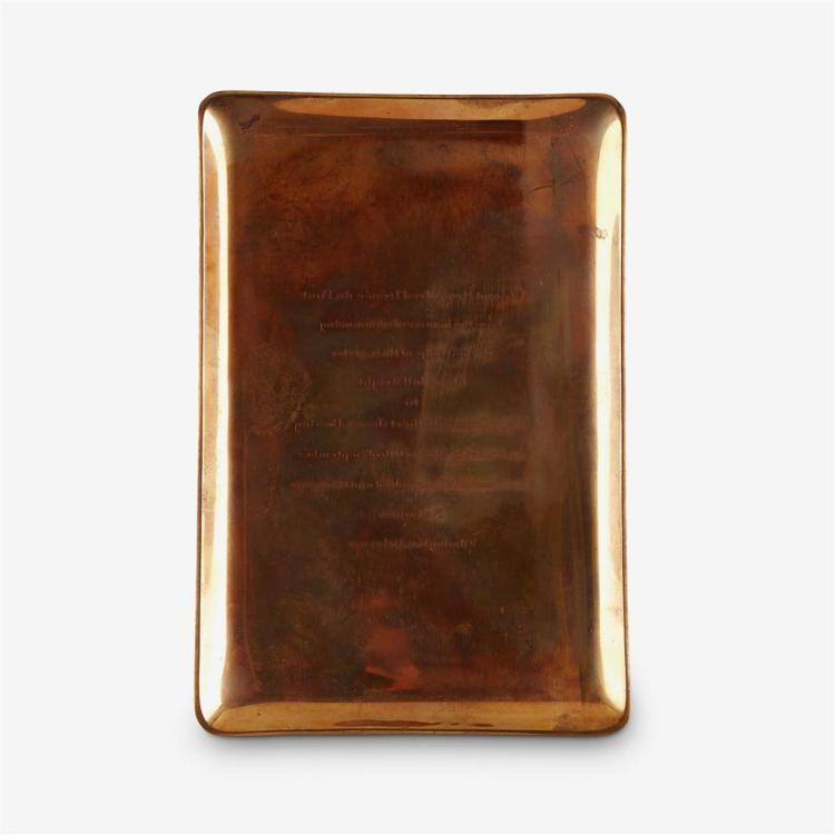 A Cartier copper tray, second quarter 20th century