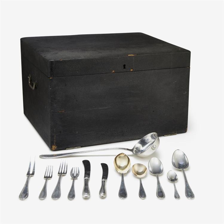 A German sterling silver flatware service for eighteen, H. Meyen & Co., Berlin, first quarter 20th century