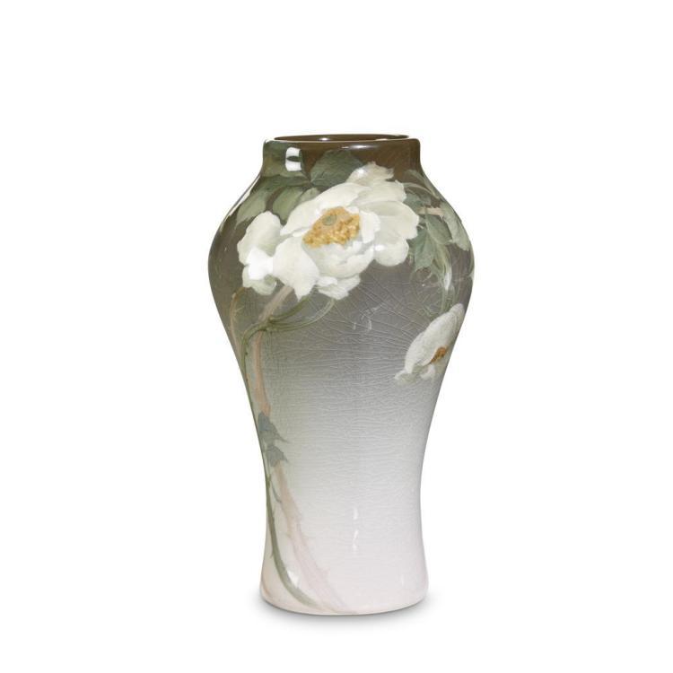 A Rookwood iris glazed vase, signed Frederick Daniel Rothenbusch, 1904