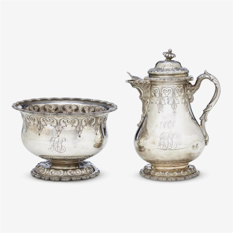An American sterling silver part tea service, Tiffany & Co., New York, NY, 19th century
