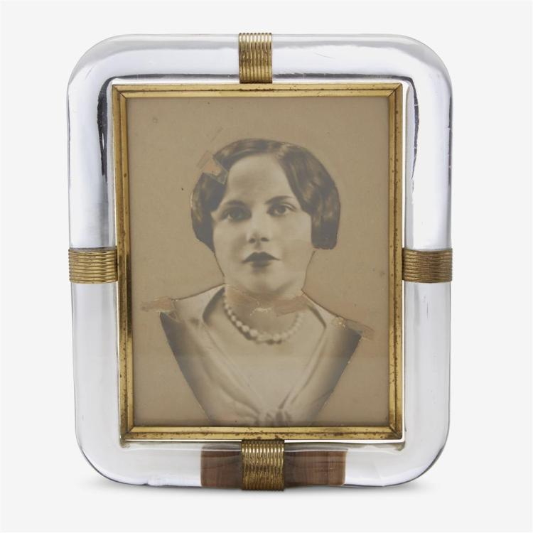 A Murano glass picture frame, circa 1950