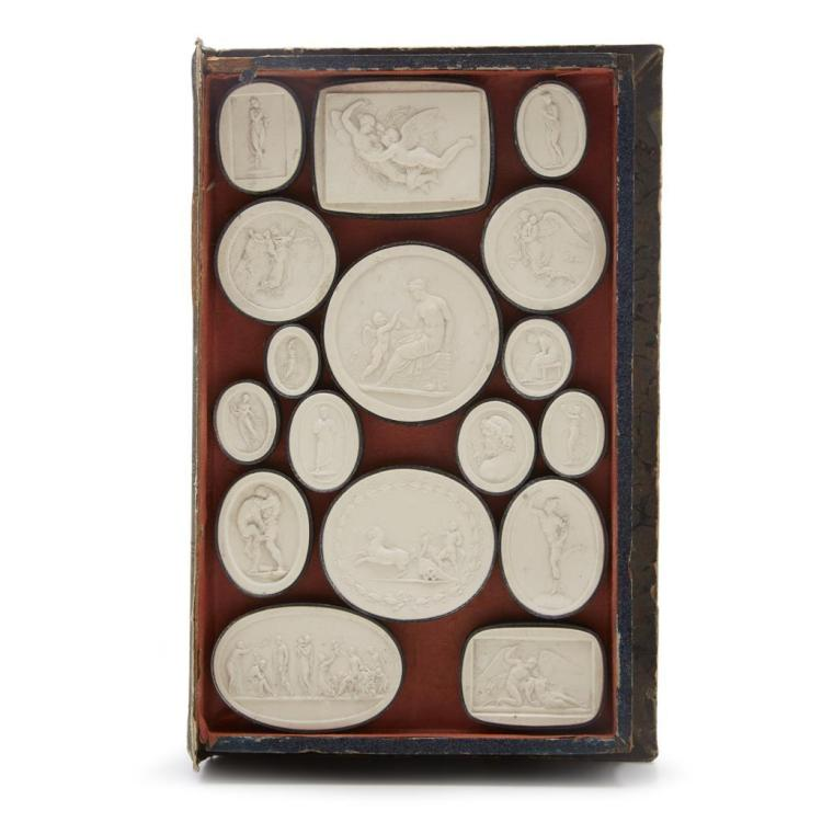 A Collection of Italian plaster intaglios, 19th century