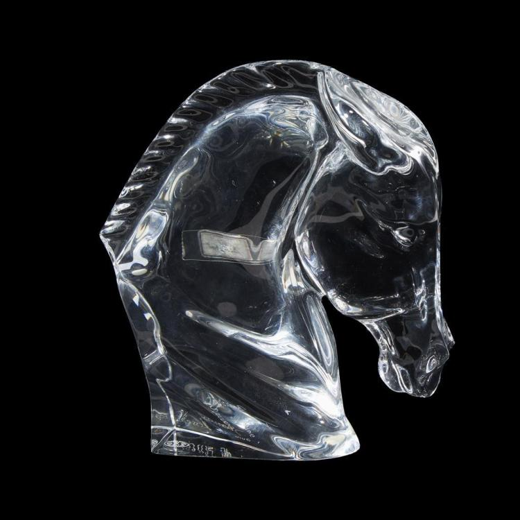 A Baccarat ''Tête de Cheval'' sculpture, France, 20th century