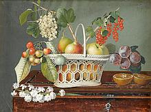 ATTRIBUTED TO GIOVANNA GARZONI, (ITALIAN 1600-1670), STILL LIFE WITH MIXED FRUITS IN A RETICULATED BASKET