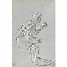 CHARLES MONGINOT, (FRENCH 1825-1900), FOUR FIGURE DRAWINGS