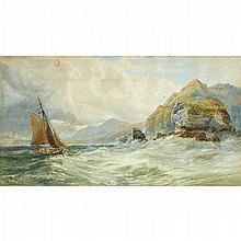 JOHN FAULKNER, (IRISH 1835-1894), BREEZING UP, SHIP IN ELAGH BAY