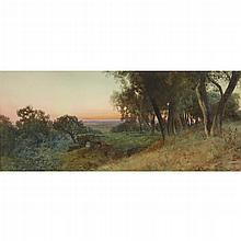 ETTORE ROESLER FRANZ, (ITALIAN 1845-1907), VIEW OF THE ROMAN CAMPAGNA